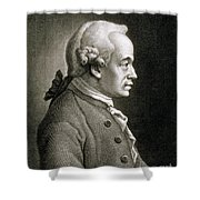 Portrait Of Emmanuel Kant Shower Curtain