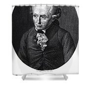 Portrait Of Emmanuel Kant  Shower Curtain by German School