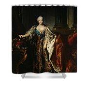 Portrait Of Empress Elizabeth, 1758 Oil On Canvas Shower Curtain