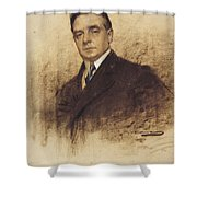 Portrait Of Enric Borras Shower Curtain