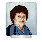 Portrait Of Essie Simon  Shower Curtain