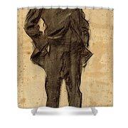 Portrait Of Ezequiel Boixet Shower Curtain