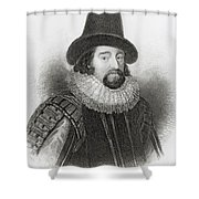 Portrait Of Francis Bacon Shower Curtain