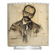 Portrait Of Gabriel Alomar Shower Curtain