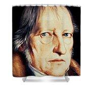 Portrait Of Georg Wilhelm Friedrich Hegel Shower Curtain