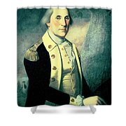 Portrait Of George Washington Shower Curtain by James the Elder Peale