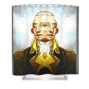 Portrait-of-george Washington Vert  2  Shower Curtain