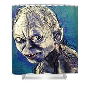 Portrait Of Gollum Shower Curtain