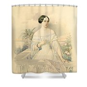 Portrait Of Grand Duchess Olga Nikolaevna Shower Curtain by Vladimir Ivanovich Hau