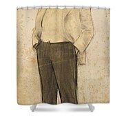 Portrait Of Hermenegild Miralles Shower Curtain
