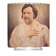 Portrait Of Honore De Balzac Shower Curtain