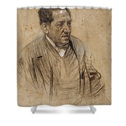Portrait Of Iscle Soler Shower Curtain