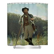 Portrait Of Ivan Ivanovich Shishkin Shower Curtain