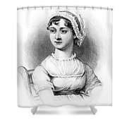 Portrait Of Jane Austen Shower Curtain by English School