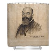 Portrait Of Joan Garriga Shower Curtain