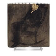 Portrait Of Joan Mane I Flaquer Shower Curtain