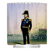 Portrait Of King William Iv Plate 14 Shower Curtain