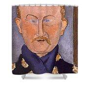 Portrait Of Leon Bakst Shower Curtain