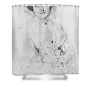 Portrait Of Madame Ingres Shower Curtain