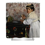 Portrait Of Mademoiselle Hortense Valpincon Shower Curtain