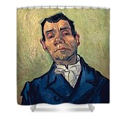 Portrait Of Man Shower Curtain