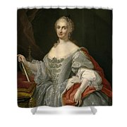 Portrait Of Maria Amalia Of Saxony As Queen Of Naples Overlooking The Neapolitan Crown Shower Curtain