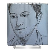 Portrait Of Mark Owen Shower Curtain