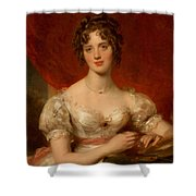 Portrait Of Mary Anne Bloxam Shower Curtain by Thomas Lawrence