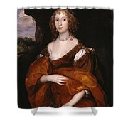 Portrait Of Mary Hill Shower Curtain