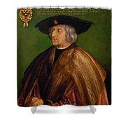 Portrait Of Maximilian I Shower Curtain