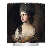 Portrait Of Miss Elizabeth Linley  Later Mrs Richard Brinsley Sheridan Shower Curtain