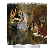 Portrait Of Mlle Fiocre In The Ballet La Source Shower Curtain