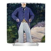 Portrait Of Monsieur Brun Shower Curtain