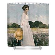 Portrait Of Mrs Lyndon B Johnson Shower Curtain by Mountain Dreams