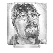 Portrait Of My Husband Shower Curtain