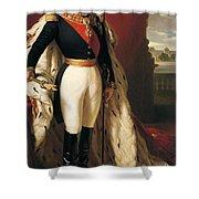 Portrait Of Napoleon IIi Louis Napoleon Bonaparte Shower Curtain