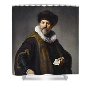 Portrait Of Nicolaes Ruts Shower Curtain
