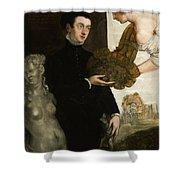 Portrait Of Ottavio Strada Shower Curtain