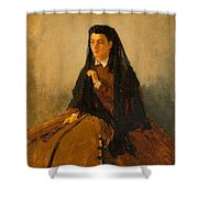 Portrait Of Pauline 1867 Shower Curtain