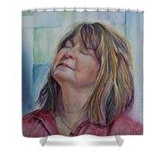 Portrait Of Peg Shower Curtain