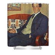 Portrait Of Peter Kapitza 1926 Shower Curtain