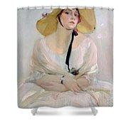 Portrait Of Raquel Meller Shower Curtain