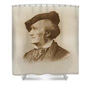 Portrait Of Richard Wagner German Shower Curtain