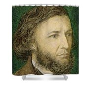 Portrait Of Robert Browning Shower Curtain