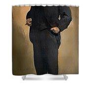 Portrait Of Samuel L Clemons - Mark Twain Shower Curtain