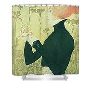 Portrait Of Sarah Bernhardt Shower Curtain by Manuel Orazi