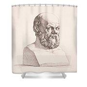Portrait Of Socrates Shower Curtain
