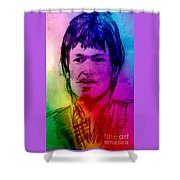 Rainbow Portrait Of Stevie Winwood Shower Curtain