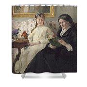Portrait Of The Artist S Mother And Sister Shower Curtain