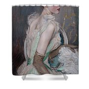 Portrait Of The Countess De Leusse Shower Curtain